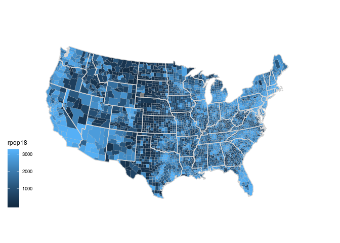 A Discrete Scale With A Very Different Color To Highlight The Counties With Missing Information