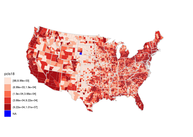 Maps And Geographical Data - Map_id ggmap us county